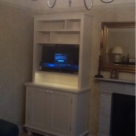 Free Standing Dresser with TV on swing-out arm